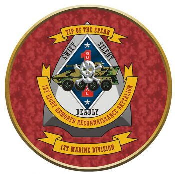 Coat of arms (crest) of the 1st Light Armored Reconnaissance Battalion, USMC