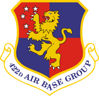 Coat of arms (crest) of the 422nd Air Base Group, US Air Force