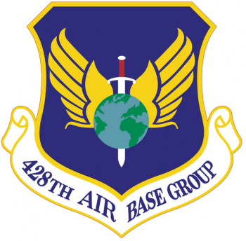 Coat of arms (crest) of the 428th Air Base Group, US Air Force