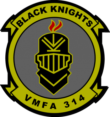 Coat of arms (crest) of the VMFA-314 Black Knights, USMC