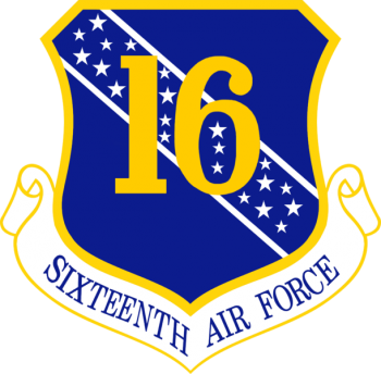 Coat of arms (crest) of the 16th Air Force, US Air Force