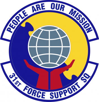 Coat of arms (crest) of the 31st Force Support Squadron, US Air Force