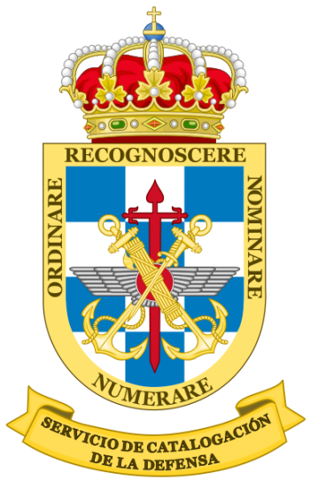 Coat of arms (crest) of the Defence Cataloging Service, Spain