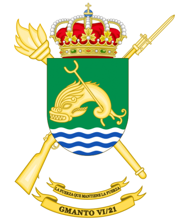 Coat of arms (crest) of the Logistics Maintenance Group VI-21, Spanish Army