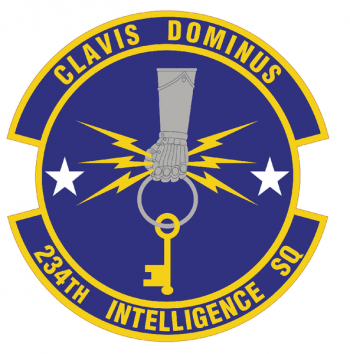 Coat of arms (crest) of the 234th Intelligence Squadron, California Air National Guard