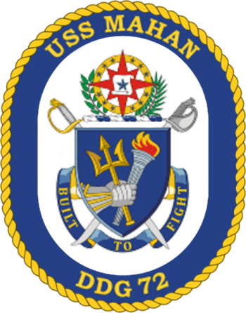 Coat of arms (crest) of the Destroyer USS Mahan