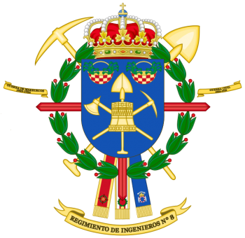 Coat of arms (crest) of the Engineer Regiment No 8, Spanish Army
