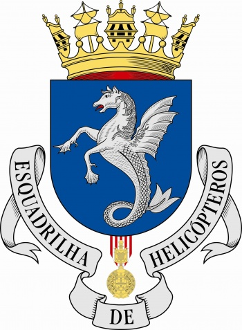 Coat of arms (crest) of the Helicoper Squadron, Portuguese Navy