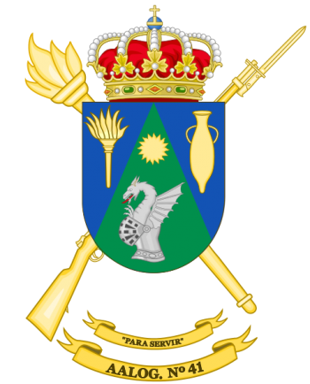 Coat of arms (crest) of the Logistics Support Group 41, Spanish Army