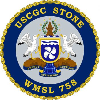 Coat of arms (crest) of the USCGC Stone (WMSL-758)