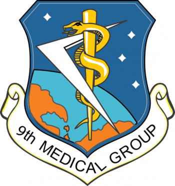 Coat of arms (crest) of the 9th Medical Group, US Air Force
