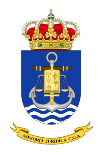 Coat of arms (crest) of the Legal Services of the General Staff of the Navy, Spanish Navy