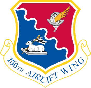 Coat of arms (crest) of the 156th Airlift Wing, Puerto Rico Air National Guard