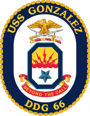 Coat of arms (crest) of the Destroyer USS Gonzalez