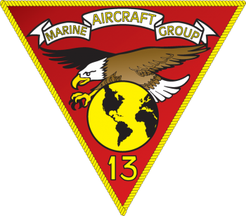 Coat of arms (crest) of the Marine Aircraft Group 13, USMC