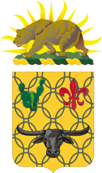 Coat of arms (crest) of the 149th Armor Regiment, California Army National Guard