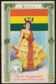 Arms, Flags and Folk Costume trade card Bolivia