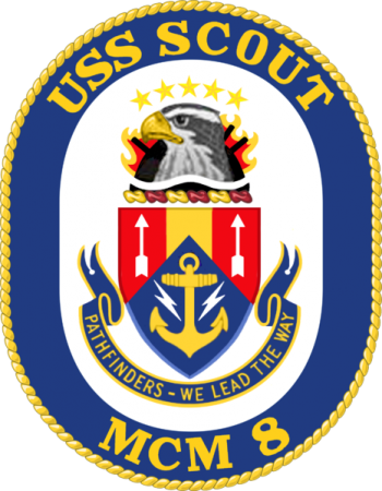 Coat of arms (crest) of the Mine Countermeasures Ship USS Scout