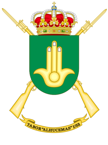 Coat of arms (crest) of the Tabor Alhucemas I-52, Spanish Army