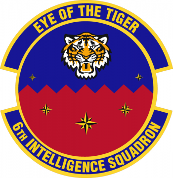 Coat of arms (crest) of the 6th Intelligence Squadron, US Air Force