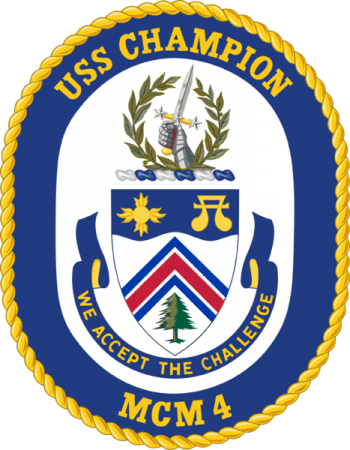 Coat of arms (crest) of the Mine Countermeasures Ship USS Champion