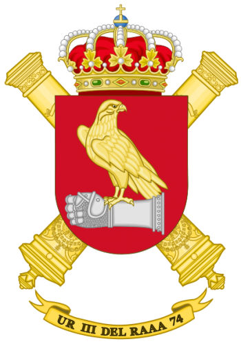 Coat of arms (crest) of the Repair Unit III-74, Spanish Army
