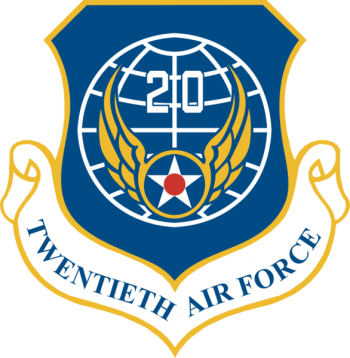 Coat of arms (crest) of the 20th Air Force, US Air Force