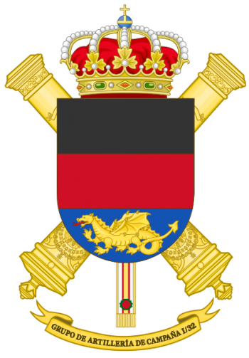 Coat of arms (crest) of the Field Artillery Group I-32, Spanish Army