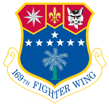 Coat of arms (crest) of the 169th Fighter Wing, South Carolina Air National Guard