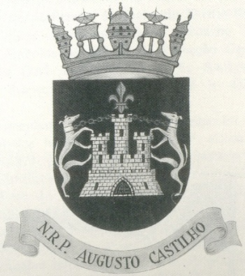 Coat of arms (crest) of the Corvette NRP Augusto Castilho, Portuguese Navy