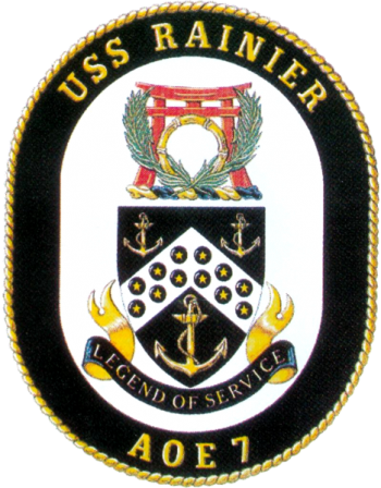Coat of arms (crest) of the Fast Combat Support Ship USS Rainier (AOE-7)
