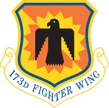 Coat of arms (crest) of the 173rd Fighter Wing, Oregon Air National Guard