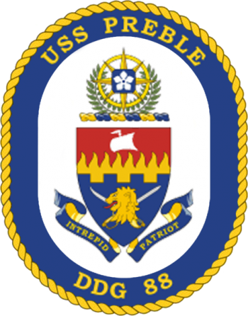 Coat of arms (crest) of the Destroyer USS Preble