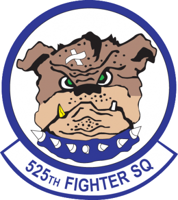 Coat of arms (crest) of the 525th Fighter Squadron, US Air Force
