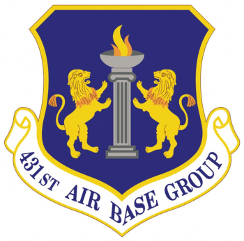 Coat of arms (crest) of the 431st Air Base Group, US Air Force