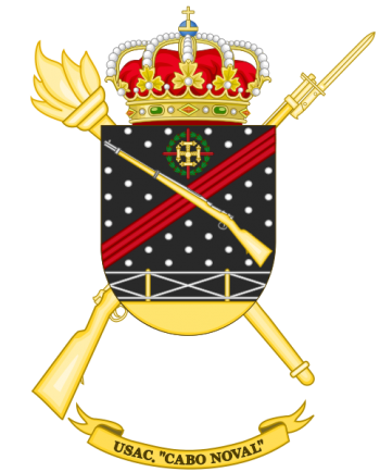 Coat of arms (crest) of the Barracks Services Unit Cabo Noval, Spanish Army