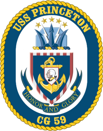 Coat of arms (crest) of the Cruiser USS Princeton