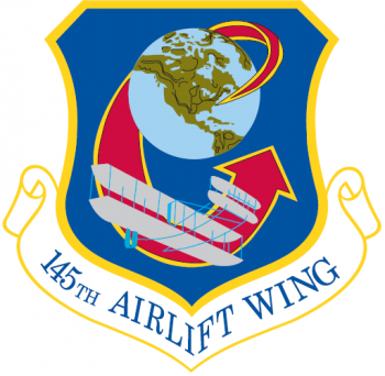 Coat of arms (crest) of the 145th Airlift Wing, North Carolina Air National Guard