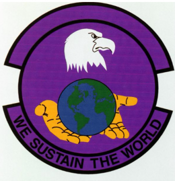 Coat of arms (crest) of the 14th Logistics Squadron, US Air Force