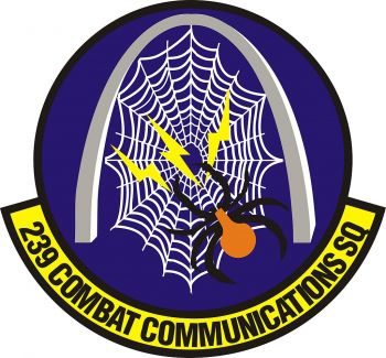 Coat of arms (crest) of the 239th Combat Communications Squadron, Missouri Air National Guard