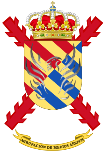 Coat of arms (crest) of the Aerial Group Military Emergencies Unit, Spain