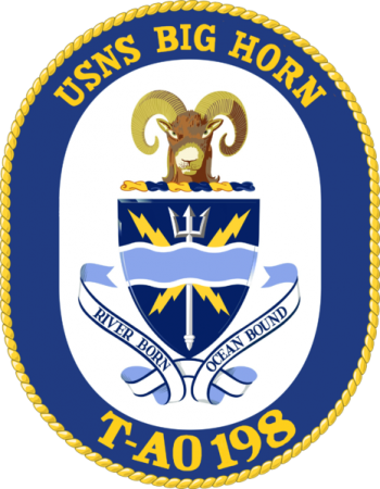 Coat of arms (crest) of the Fleet Replenishment Oiler USNS Big Horn (T-AO-198)