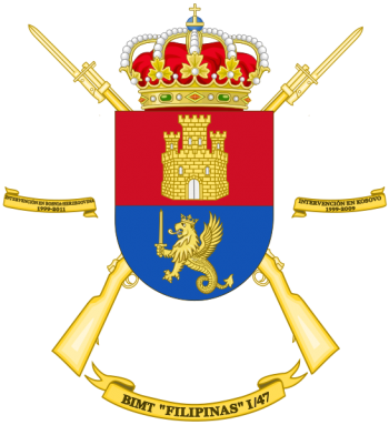 Coat of arms (crest) of the Motorized Infantry Battalion Filipinas I-47, Spanish Army