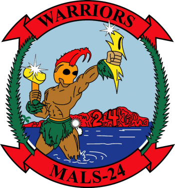 Coat of arms (crest) of the MALS-24 Warriors, USMC