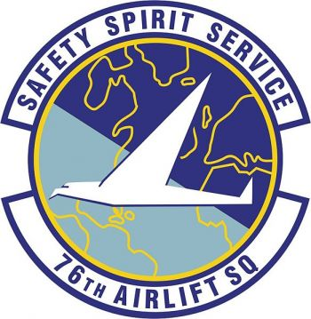 Coat of arms (crest) of the 76th Airlift Squadron, US Air Force