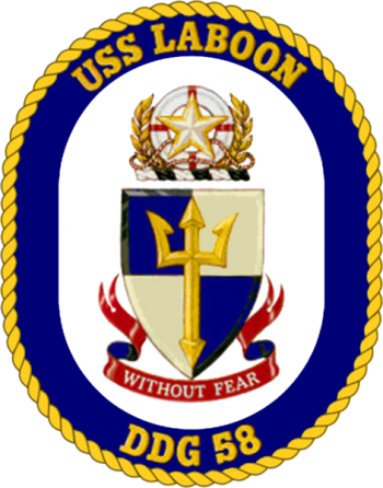 Coat of arms (crest) of the Destroyer USS Laboon