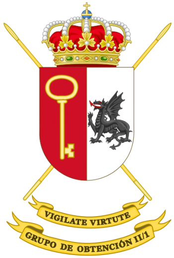 Coat of arms (crest) of the Long Range Reconnaissance Group II-1, Spanish Army