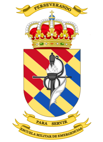 Coat of arms (crest) of the Military Emergencies School, Spain