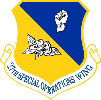Coat of arms (crest) of the 27th Special Operations Wing, US Air Force