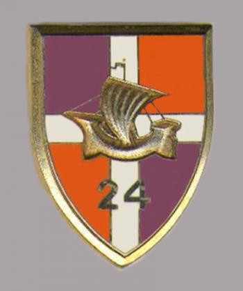 Arms of 24th Infantry Regiment, French Army
